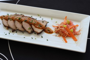 Blood Orange/Aji Panca Sauce with a Perfect Pork Tenderloin