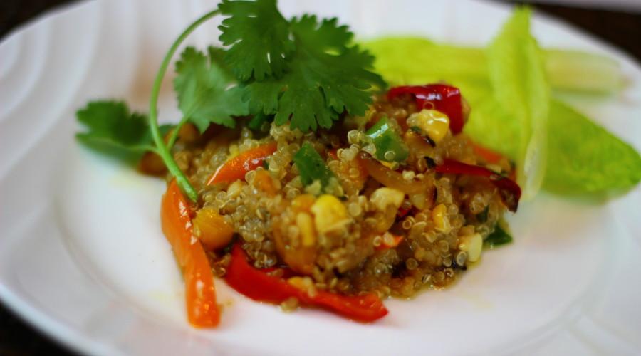 Roasted Corn and Quinoa Salad