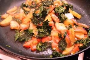 Pan Roasted Kale and Veggies