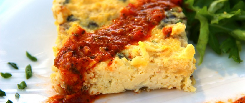 Strata & Romesco Sauce: Fancy Egg Casserole by Another Name
