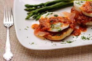 Eggs Benedict – Romesco Style
