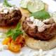 Lamb Burgers with Pomegranate  Tzatziki Sauce