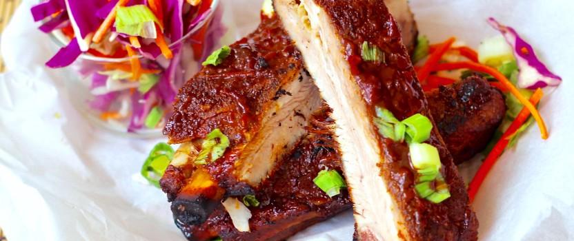 Pork Spare Ribs with Pomegranate Glaze