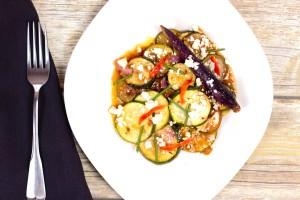 Roasted Vegetable Salad with Blood Orange/Aji Panca Sauce