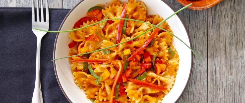 Pasta with Romesco Sauce