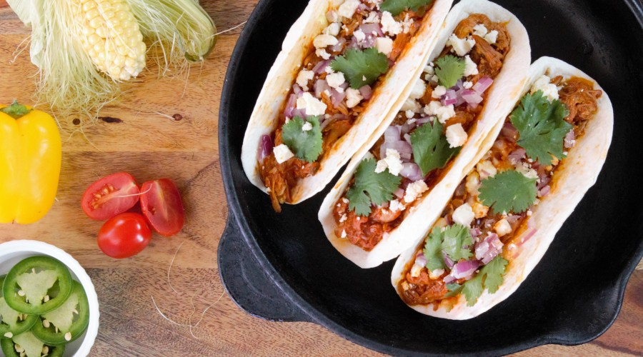 Pulled Pork Tacos with Mirasol Mole Cooking Sauce